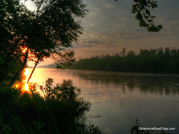 North Canadian River Morning - image #284445 gratis