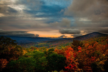 West Virginia Fall Foliage Mountain Sunset - Kostenloses image #285325