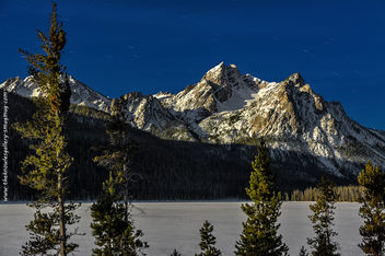Stanley lake by moon light - Free image #290765