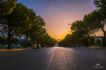 Sunrise at street in Trapani, Sicily (Italy) - image gratuit #291105