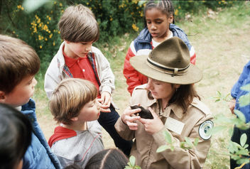 Park ranger Kathy O'Gara in Discovery Park, 1982 - Free image #291245