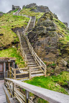 The Tintagel castle, Cornwall, United Kingdom - бесплатный image #292295