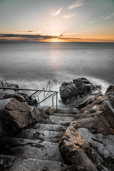 Sunrise in Hawk cliff, Killiney, Co. Dublin, Ireland - Kostenloses image #295795