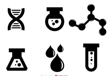 Laboratory Black Icons - бесплатный vector #297615