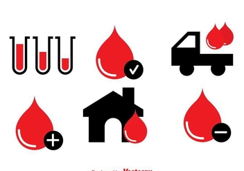 Blood Donation Icons - vector #297625 gratis
