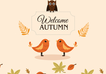 Autumn Birds - Free vector #297635