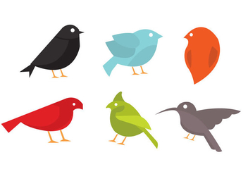 Vector Collection of Birds - vector gratuit #297675