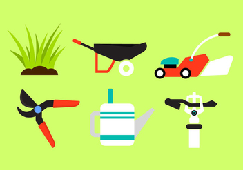 Vector Collection of Gardening Objects - vector gratuit #297685