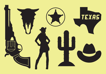 Wild West Icons - Free vector #297735