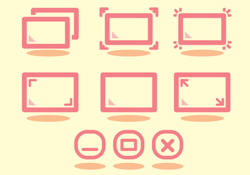 Full Screen Icon Set - Free vector #297765