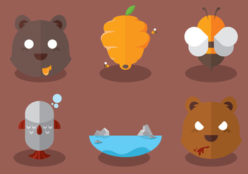 Wild Bear Vector Set - бесплатный vector #297775