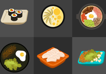Korean Food - vector gratuit #297805