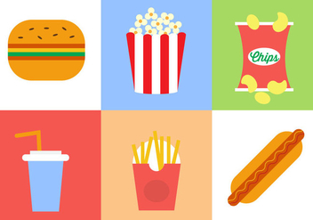 Fast Food Vector Collection - бесплатный vector #297865