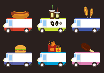 Food Trucks - vector gratuit #297895