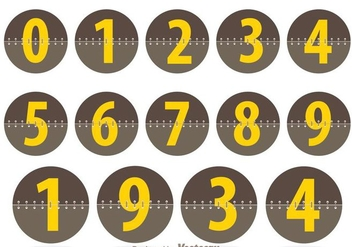 Circle Number Counters - vector gratuit #297935