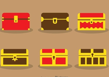 Treasure Chest Vectors - Kostenloses vector #297995