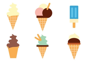 Ice Cream Vector Set Two - Free vector #298025