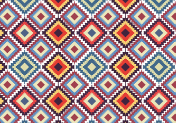 Native American Seamless Pattern - vector gratuit #298045
