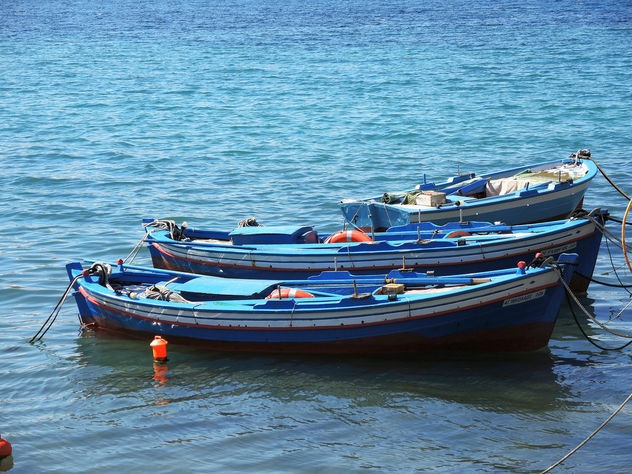 Greece (Lesvos Island) Blue boats - Free image #299245