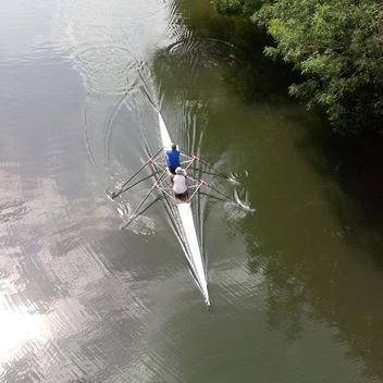 Rowers on the river Avon - image #301435 gratis