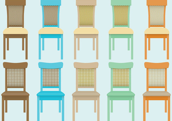 Wicker Chair Vectors - бесплатный vector #301475