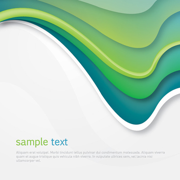 Green Arched Waves Cover - vector gratuit #301885