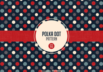 Free Retro Polka Dot Pattern Vector - бесплатный vector #302115