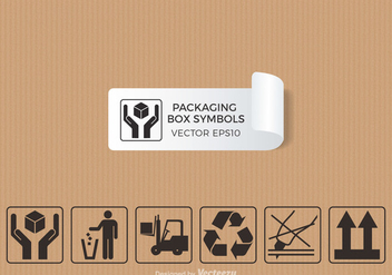 Free Packaging Symbols Vector - Free vector #302125