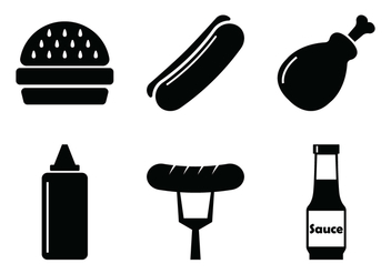 BBQ Vector Icons - vector gratuit #302195