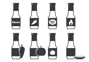 Bottle Sauce Icon - бесплатный vector #302205