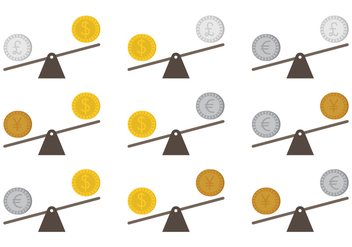 See Saw Money Concept Vectors - Kostenloses vector #302265