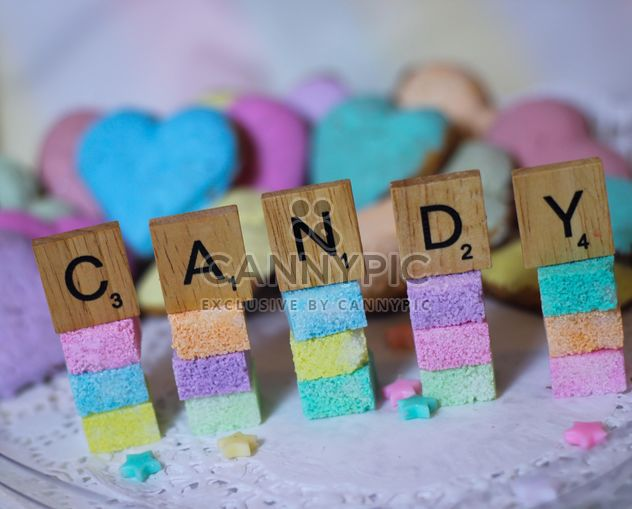candy colorful sugarcubes - image gratuit #302355