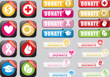 Donate Web Buttons - vector gratuit #302445
