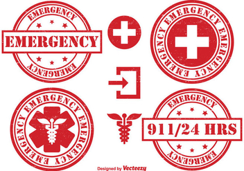 Emergency Badge Set - vector gratuit #302455