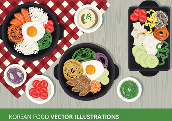 Korean Food Vector Illustration - бесплатный vector #302595