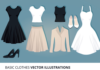 Clothes Vector Illustration - vector gratuit #302605