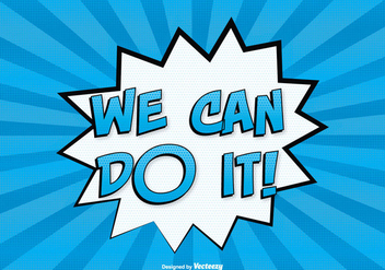 Comic Style ''You Can Do It'' Illustration - vector #302645 gratis