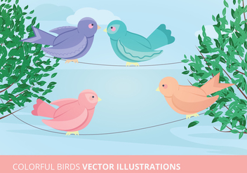Birds Vector Illustration - бесплатный vector #302725