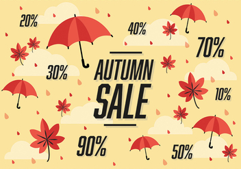 Free Autumn Sale Vector Background - vector #302735 gratis