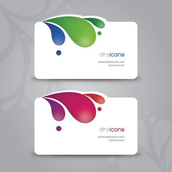Modern Die Cut Business Card - Free vector #302745