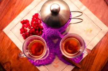 warm tea with cinnamon - image gratuit #302935