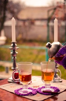 warm tea with cinnamon - image gratuit #302945
