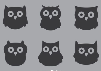 Gray Owl Vectors - бесплатный vector #302995