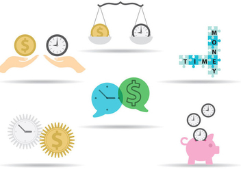 Time Is Money Concepts - Kostenloses vector #303035