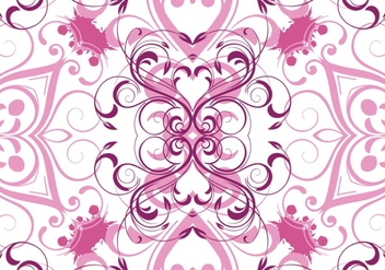Pink Vector Floral Pattern Background - бесплатный vector #303045