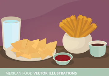 Mexican Food Vector Illustration - бесплатный vector #303065