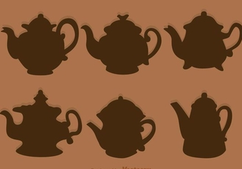Arabic Coffee Pot Silhouette - vector gratuit #303115