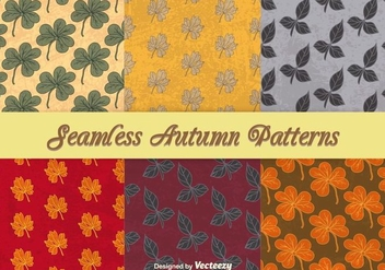 Autumnal seamless patterns - Free vector #303145