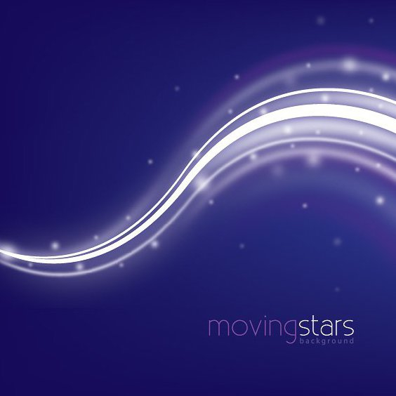 Moving Stars with Waves Background - Free vector #303165