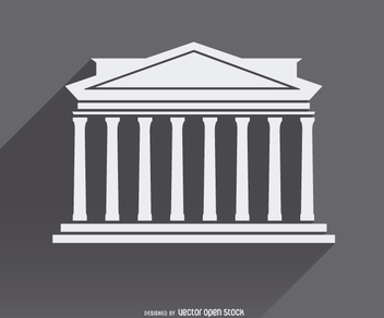 Greek Architecture icon symbol - vector gratuit #303185